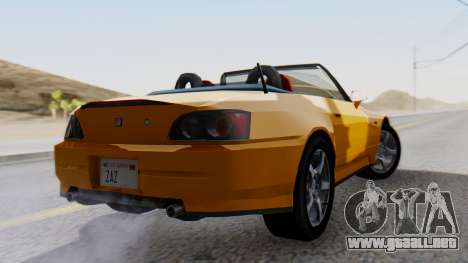 Honda S2000 Fast and Furious para GTA San Andreas left