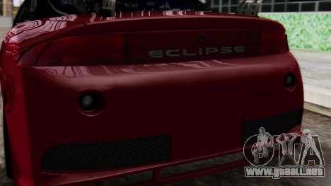 Mitsubishi Eclipse GSX 1999 Mugi Itasha para visión interna GTA San Andreas