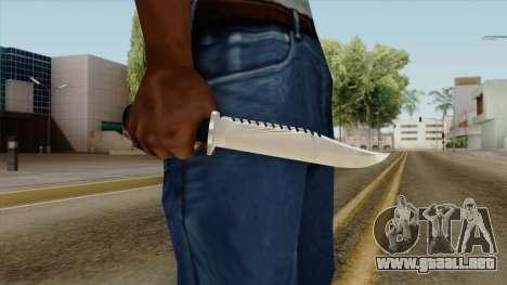 Original HD Knife para GTA San Andreas tercera pantalla