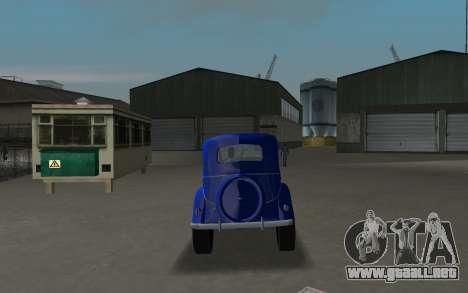 GAZ 11-73 Azul Real para GTA Vice City visión correcta