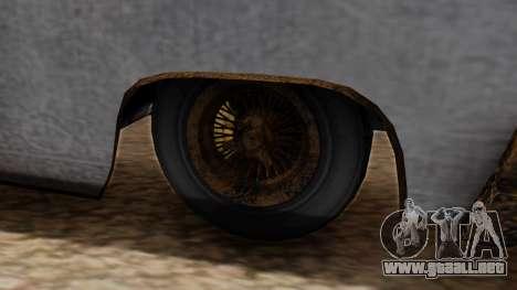 GTA 5 Declasse Voodoo Worn para GTA San Andreas vista posterior izquierda