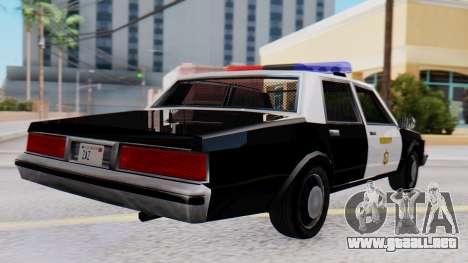 Chevrolet Caprice 1980 SA Style LVPD para GTA San Andreas left