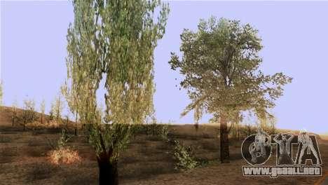 La textura de los árboles de la MGR para GTA San Andreas tercera pantalla