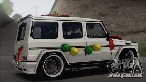 Mercedes Benz G65 Hamann Tuning Wedding Version para la visión correcta GTA San Andreas