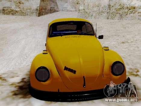 Volkswagen Escarabajo 1975 Jeans Edición Persona para visión interna GTA San Andreas