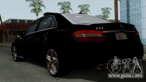 Mercedes-Benz E63 AMG Police Edition para GTA San Andreas left