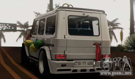Mercedes Benz G65 Hamann Tuning Wedding Version para visión interna GTA San Andreas