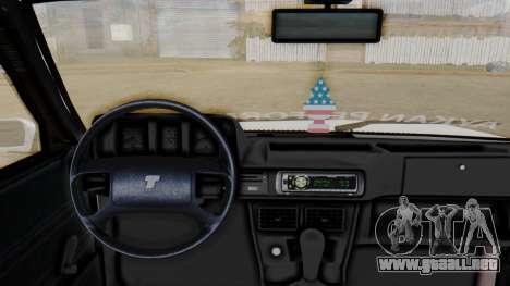 Tofas Turbo SLX 1.6 para GTA San Andreas vista posterior izquierda
