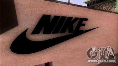 New Shop Nike para GTA San Andreas tercera pantalla