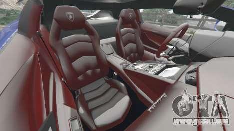 GTA 5 Lamborghini Aventador LP700-4 v1.2 delantero derecho vista lateral
