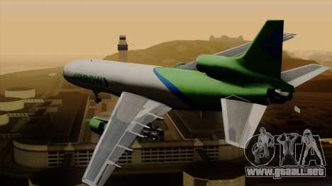 Lockheed L-1011 TriStar Arrow Air Cargo para GTA San Andreas left