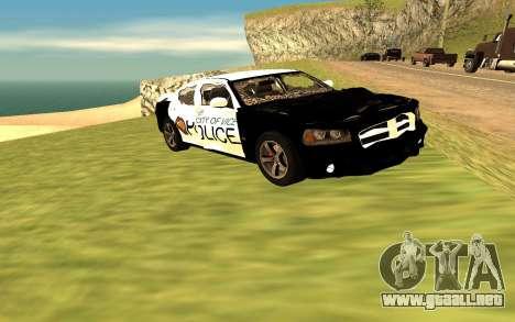 Dodge Charger Super Bee 2008 Vice City Police para la visión correcta GTA San Andreas