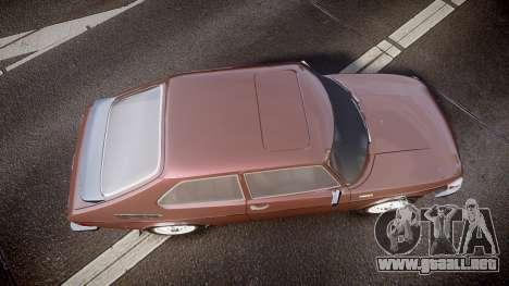 Saab 99 Turbo para GTA 4 visión correcta