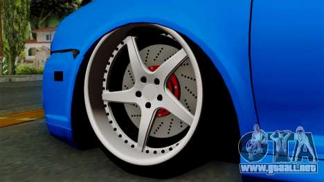 Volkswagen Golf Mk4 Stance para GTA San Andreas vista posterior izquierda