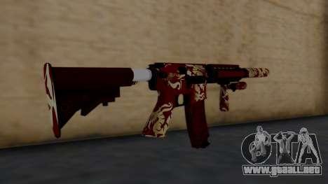 M4A1 Royal Dragon para GTA San Andreas segunda pantalla