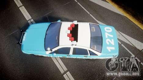 Chevrolet Caprice 1991 Police para GTA 4 visión correcta