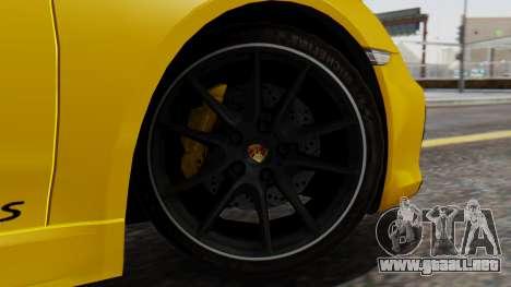 Porsche Boxter GTS 2016 para GTA San Andreas vista posterior izquierda