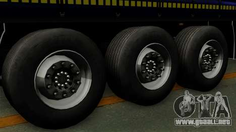 Trailer Krone Profiliner v3 para GTA San Andreas vista posterior izquierda