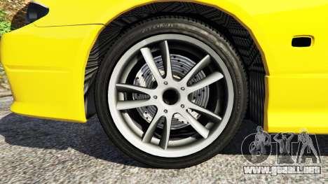 GTA 5 Nissan Silvia S15 v0.1 vista lateral trasera derecha
