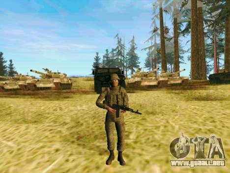 Pak combatientes de las tropas especiales del GR para GTA San Andreas segunda pantalla
