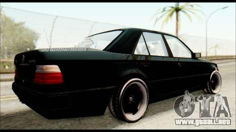 Mercedes-Benz E500 W124 para GTA San Andreas vista posterior izquierda
