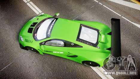 McLaren MP4-12C GT3 blank liveries para GTA 4 visión correcta
