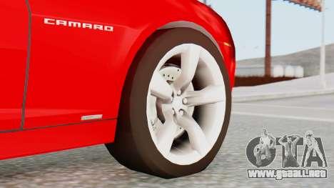 NFS Carbon Chevrolet Camaro para GTA San Andreas vista posterior izquierda