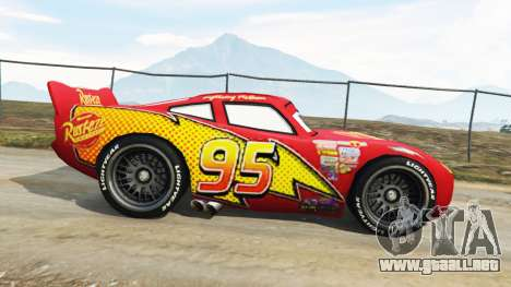 GTA 5 Lightning McQueen [Beta] vista lateral izquierda