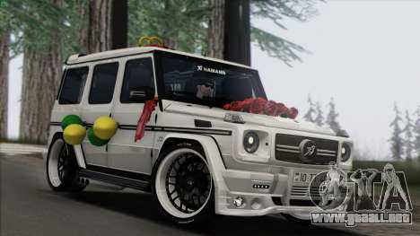 Mercedes Benz G65 Hamann Tuning Wedding Version para GTA San Andreas vista posterior izquierda