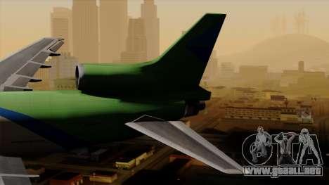 Lockheed L-1011 TriStar Arrow Air Cargo para GTA San Andreas vista posterior izquierda