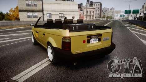 Schyster Cabby LX para GTA 4 Vista posterior izquierda
