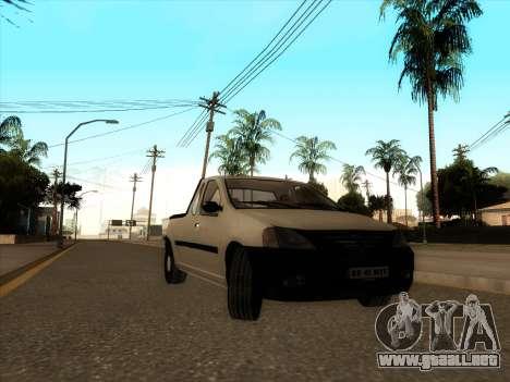 Dacia Logan Pick-up Necarosat para GTA San Andreas left