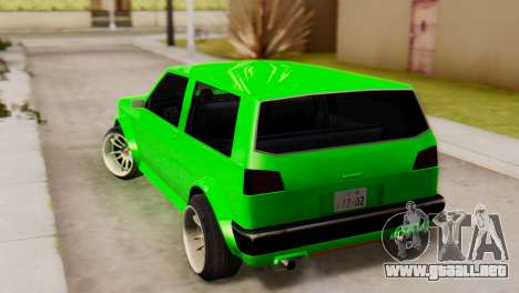 Club Stance para GTA San Andreas left