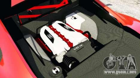 GTA 5 Audi R8 GT 2011 v0.5 [Beta] vista lateral trasera derecha