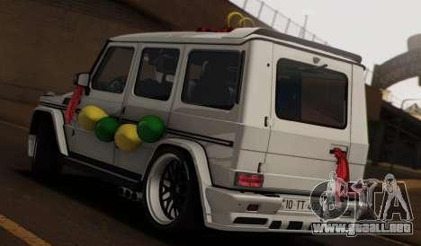 Mercedes Benz G65 Hamann Tuning Wedding Version para GTA San Andreas left