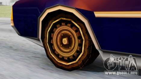 Clover Tuned para GTA San Andreas vista posterior izquierda