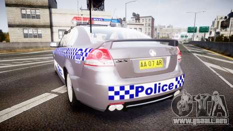 Holden VE Commodore SS Highway Patrol [ELS] para GTA 4 Vista posterior izquierda