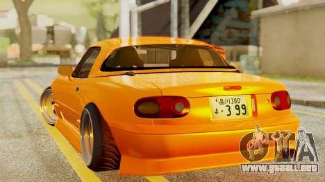 Mazda MX-5 BnSports para GTA San Andreas vista posterior izquierda