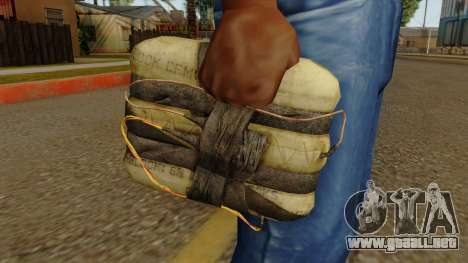 Original HD Satchel para GTA San Andreas tercera pantalla