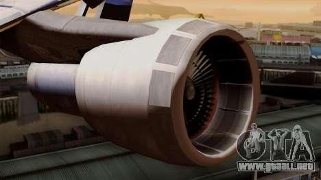 Boeing 747 British para la visión correcta GTA San Andreas