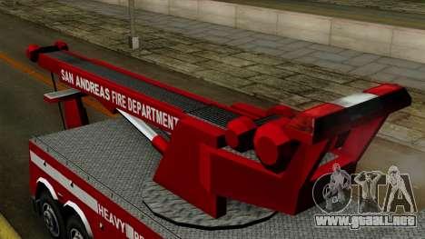 FDSA Heavy Rescue Truck para la visión correcta GTA San Andreas