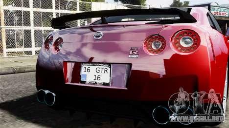 Nissan GT-R AMS 2012 para GTA 4 visión correcta