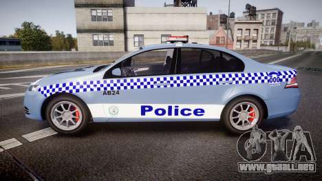 Ford Falcon FG XR6 Turbo NSW Police [ELS] v2.0 para GTA 4 left
