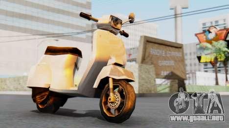 New Faggio para GTA San Andreas