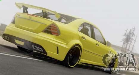 Mercedes-Benz E63 Qart Tuning para visión interna GTA San Andreas