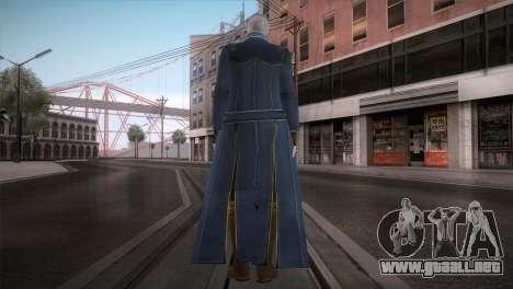 New Vergil from DMC para GTA San Andreas segunda pantalla