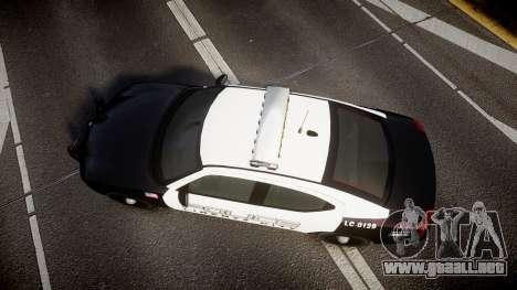Dodge Charger Police Liberty City [ELS] para GTA 4 visión correcta