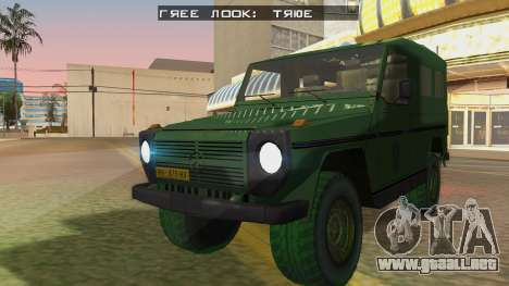 Mercedes-Benz G Wolf Croatian Army para GTA San Andreas vista posterior izquierda