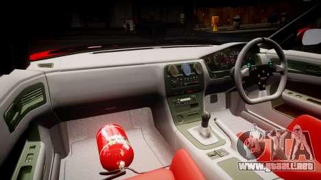Nissan Silvia S14 Koni para GTA 4 vista hacia atrás