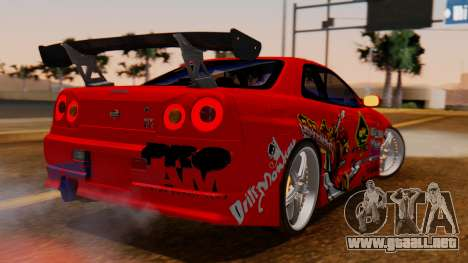 Nissan Skyline R34 Drift Monkey para GTA San Andreas left